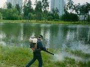 Обработка водоемов,  озер от комаров в Алматы