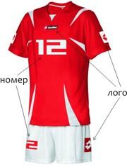 Брендирование спортивных форм (нанесение номеров, логотипов, имени)