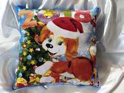 Новогодние подарочные подушки с вашим дизайном