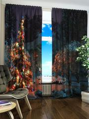Новогодние шторы Алматы (пошив и печать с вашим дизайном)